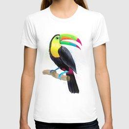 Colorful Tropical Toucan Watercolor Painting , Birds Collection  T-shirt