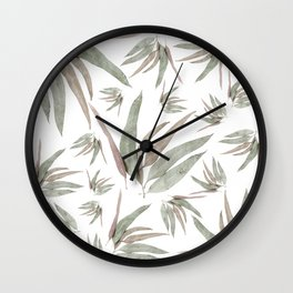 Eucalyptus Leaves Pattern Wall Clock