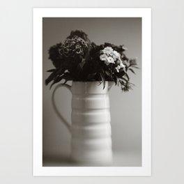 Jug of Flowers Art Print