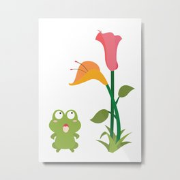 What does the frog see Metal Print
