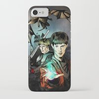 merlin iPhone & iPod Cases featuring Merlin by Miriam Soriano