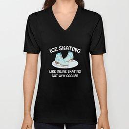 Ice Skating Unisex V-Neck