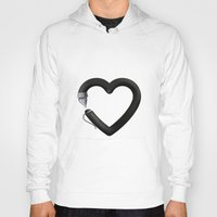 write Hoodies featuring Love to write by Colorblind
