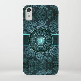 Monogrammed Aridi L Teal iPhone Case