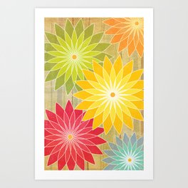 Warm Flowers Art Print