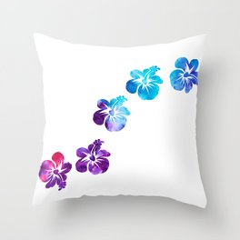 Hi Hibiscus - Minimal Throw Pillow