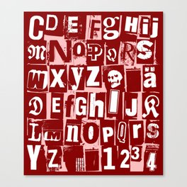 Ransom Letters Canvas Print