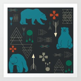 Tribal Bear Art Print