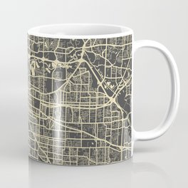 Memphis map yellow Coffee Mug