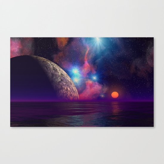 Stars and planets Canvas Print