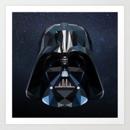 Low Poly Darth Vader Art Print