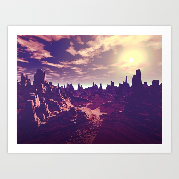 Arizona Canyon Sunshine Art Print