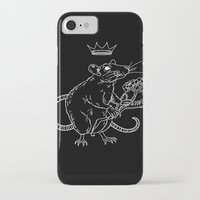 heymonster iPhone & iPod Cases featuring Rat King (white) by heymonster