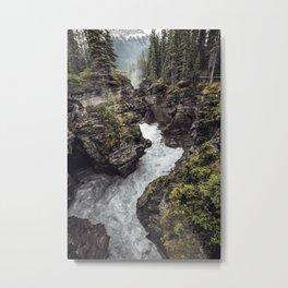 Athabasca Falls Turbulent River Metal Print