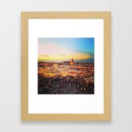 Sunset on Marrakech Framed Art Print