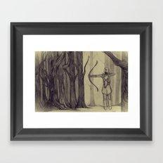 Legolas LOTR - the noisy silence of woods Framed Art Print