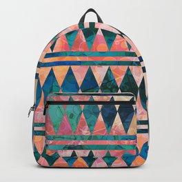 Decorative Multi-color Diamond Pattern Design Backpack