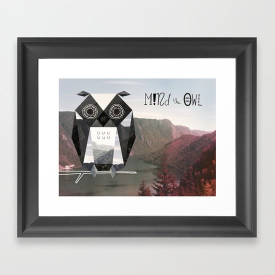 Mind the Owl! Framed Art Print