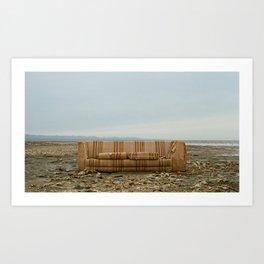 Salton Sea Couch Art Print