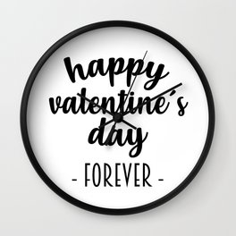 Happy Valentine´s Day Wall Clock
