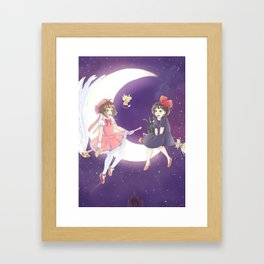 Flying Friends Framed Art Print