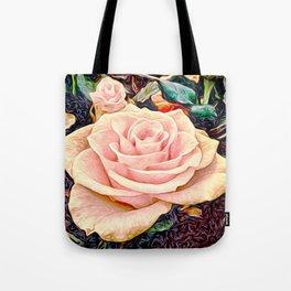 Rose in the garden (digital painting) Tote Bag