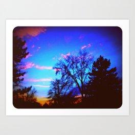 Colorful Sky (vintage) Art Print