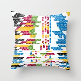 risa  fragmentada Throw Pillow