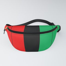 Kwanzaa Red Black Green Stripes Fanny Pack
