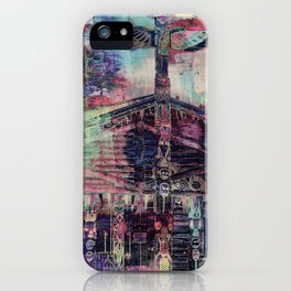 Totem Cabin Abstract - Multi iPhone Case
