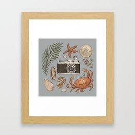 Summer Beach Collection Framed Art Print