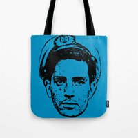 kerouac Tote Bags featuring Outlaws of Literature (Jack Kerouac) by Silvio Ledbetter