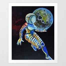 Space Suit Art Print