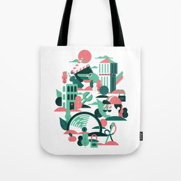 A sunny morning in Milan Tote Bag