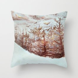 Tossed by the Wind metallic watercolour by CheyAnne Sexton Throw Pillow