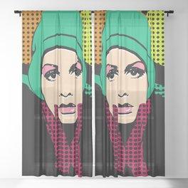 """Twiggy Pop Color"" Sheer Curtain"