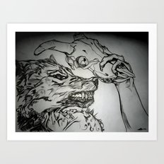 Pullin the Wolf Over My Eyes Art Print