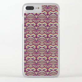 Curvas Colores Clear iPhone Case