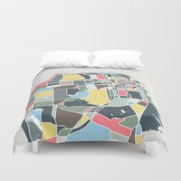 san francisco map Duvet Covers featuring San Francisco. by Studio Tesouro