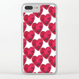 heart by heart Clear iPhone Case