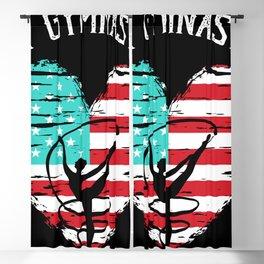 USA Flag Gymnast Balance Flexibility Blackout Curtain