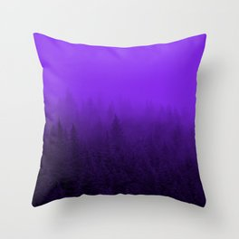 Purple Fog - 2 Throw Pillow