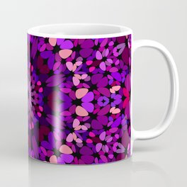 Purple Petal Garden Mandala Coffee Mug
