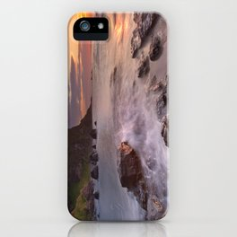 The Dunluce Castle in Northern Ireland at sunset iPhone Case