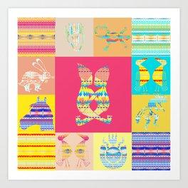 Indian patchworks71 Art Print