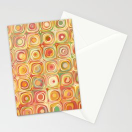 Colorful Pastel Dots Stationery Cards