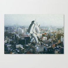 Stepping On Canvas Print