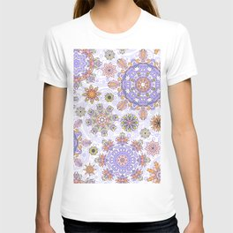 Floral pattern with stylized snowflakes. Christmas winter snow theme pattern. T-shirt