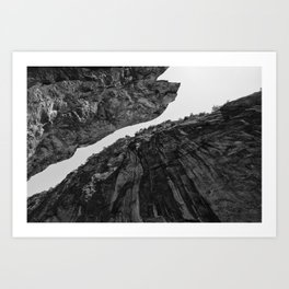 up from abyss Art Print