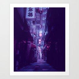 Tokyo Nights / One More Light / Liam Wong Art Print